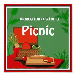 Convite da cesta do piquenique
