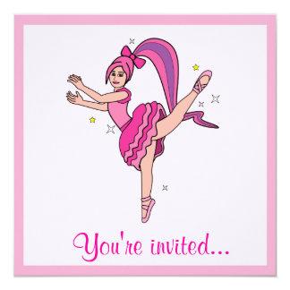 Convite da competição da dança convite quadrado 13.35 x 13.35cm
