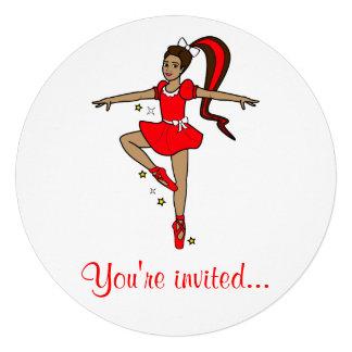 Convite da competição da dança Bailarina no