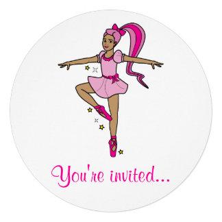 Convite da competição da dança Bailarina no rosa