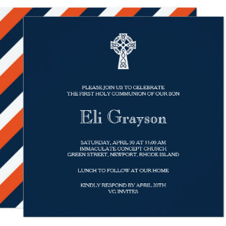 Convite da cruz celta - primeiro comunhão do