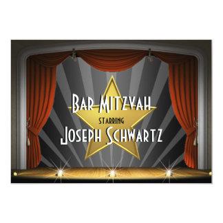 Convite da estrela de cinema de Mitzvah do bar