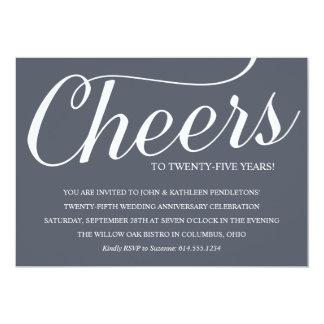 Convite da festa de aniversário do casamento do