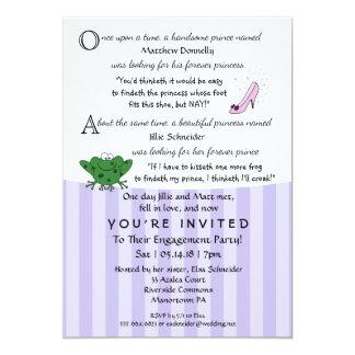 Convite da festa de noivado 5x7 do divertimento do