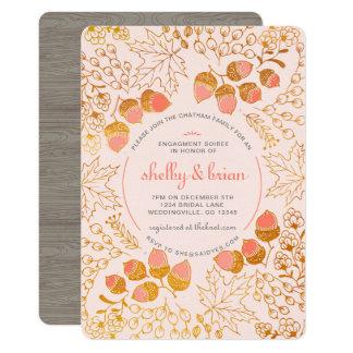 Convite da festa de noivado da floresta