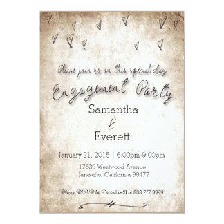Convite da festa de noivado do vintage