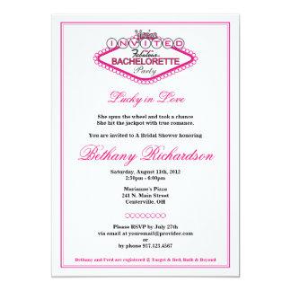 Convite da festa de solteira do Los Vegas