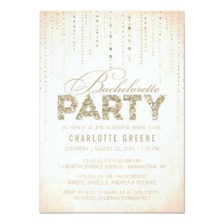Convite da festa de solteira do olhar do brilho convite 12.7 x 17.78cm