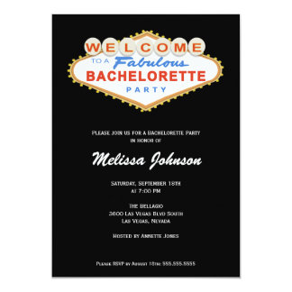Convite da festa de solteira do sinal de Las Vegas