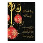 Convite da festa natalícia do ornamento dos flocos convite 12.7 x 17.78cm