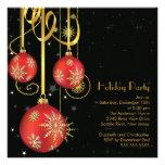 Convite da festa natalícia do ornamento dos flocos