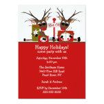 Convite da festa natalícia do Pólo Norte da rena Convite 12.7 X 17.78cm
