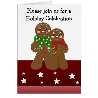 Convite da festa natalícia dos homens de cartão de nota