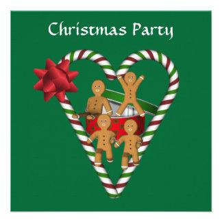 Convite da festa natalícia dos homens de pão-de-es