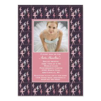 Convite da foto da bailarina