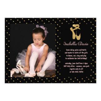 Convite da foto da bailarina do querido