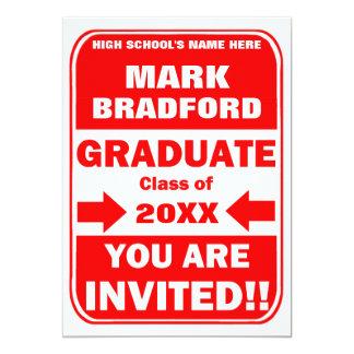 Convite da graduação - SINAL de TRÁFEGO -20XX do