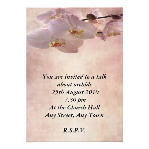 Convite da orquídea