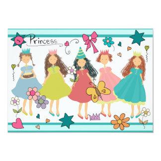 Convite da princesa partys girl 5x7