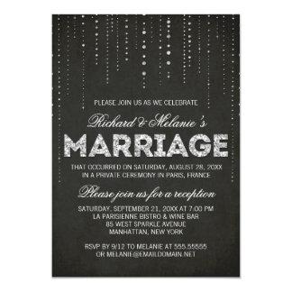 Convite da recepção de casamento do olhar do convite 12.7 x 17.78cm