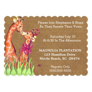 Convite da renovação do casamento convite 12.7 x 17.78cm