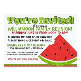 Convite da reunião de família do verão
