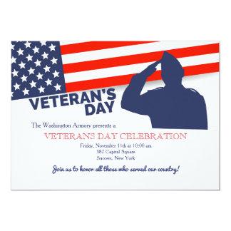 Convite da saudação do dia de veterano