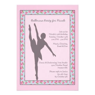 Convite da silhueta da bailarina