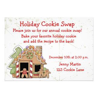 Convite da troca do biscoito do feriado