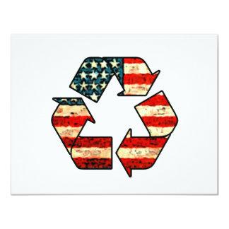 Convite de América do reciclar