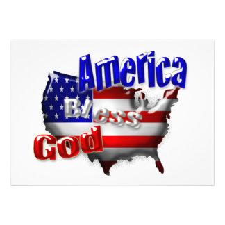 Convite de América dos deus abençoe