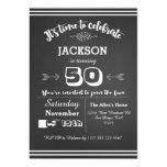 Convite de aniversário adulto 50th, 60th, 40th