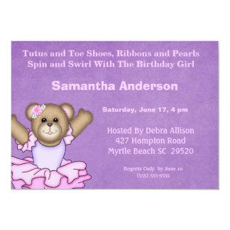 Convite de aniversário da bailarina
