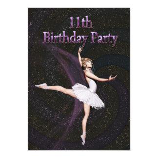 Convite de aniversário da bailarina 11o
