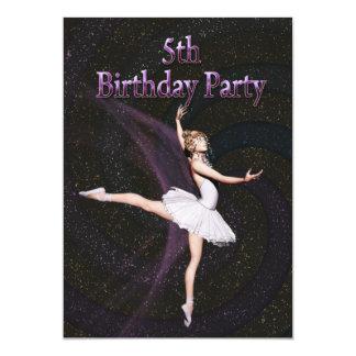 Convite de aniversário da bailarina 5o