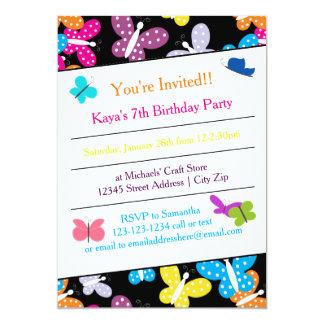 Convite de aniversário da borboleta
