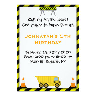 Convite de aniversário da construção