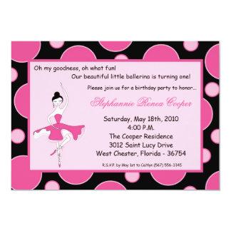 convite de aniversário da dança da bailarina 5x7 convite 12.7 x 17.78cm