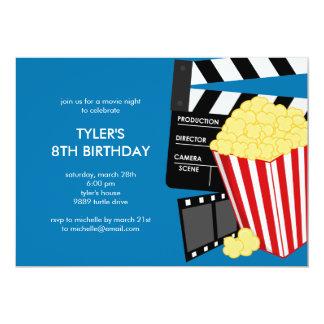 Convite de aniversário da noite de cinema