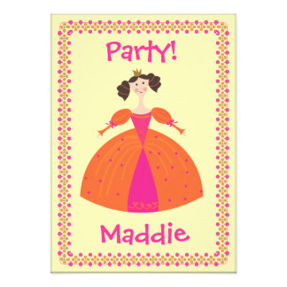 Convite de aniversário da princesa