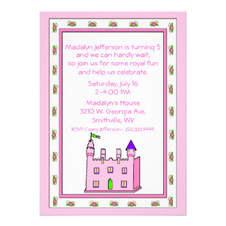 Convite de aniversário da princesa Castelo