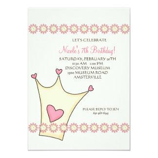 Convite de aniversário da princesa Coroa