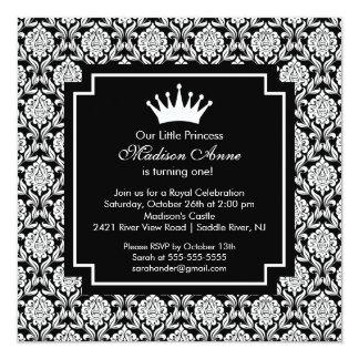 Convite de aniversário da princesa Coroa do