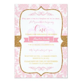 Convite de aniversário da princesa partys girl