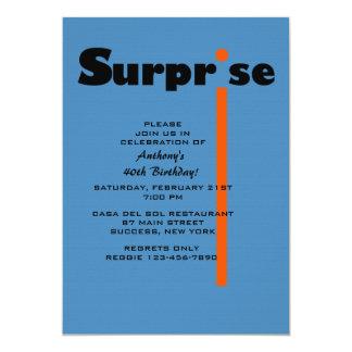 Convite de aniversário da surpresa convite 12.7 x 17.78cm