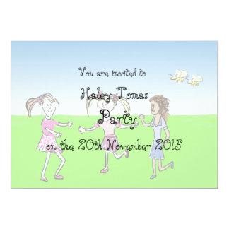 Convite de aniversário das meninas