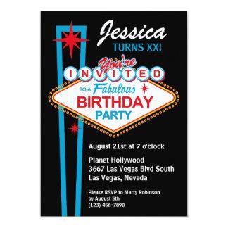 Convite de aniversário de Las Vegas
