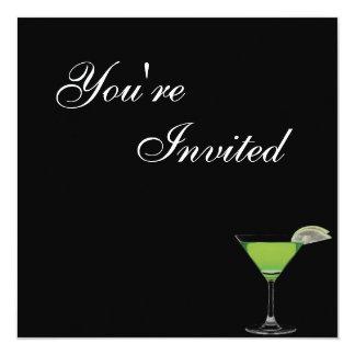 Convite de aniversário de Mocktail Convite Quadrado 13.35 X 13.35cm
