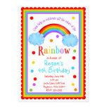 Convite de aniversário do arco-íris