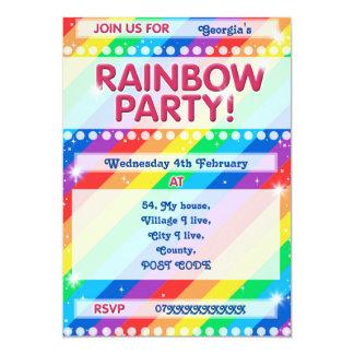 Convite de aniversário do arco-íris Customisable Convite 12.7 X 17.78cm